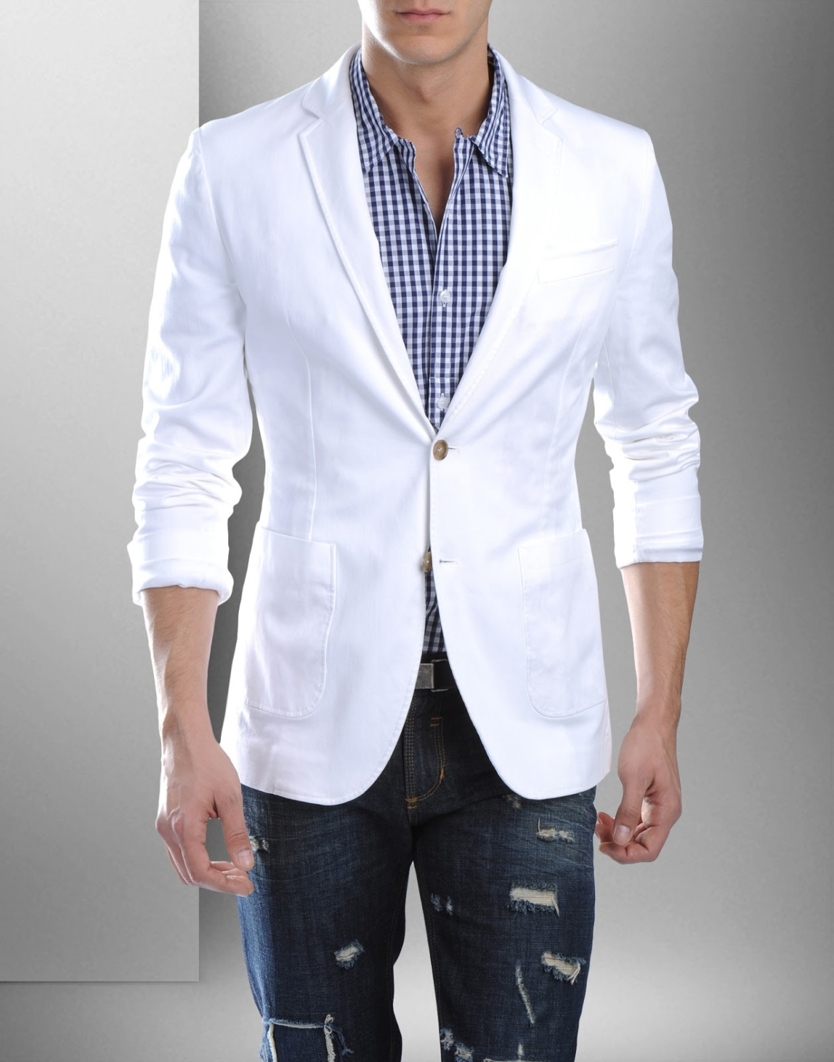 Mens Fashion Jeans And Suit Jacket